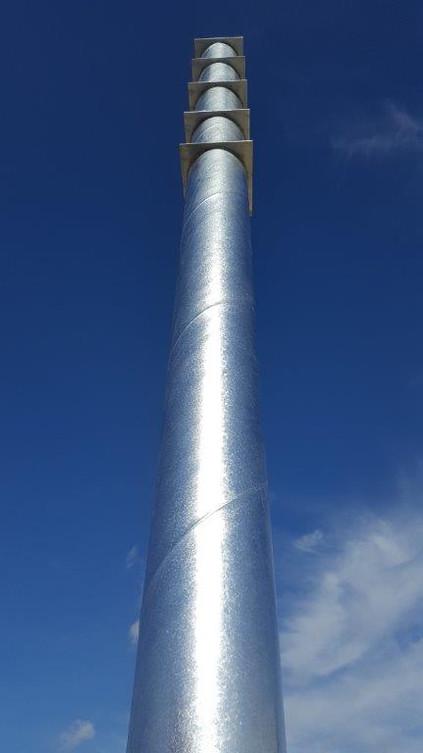 Stahlsteher für Werbeschild