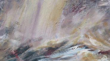 Storm Study II, 2020, Oil on wooden panel, 18 x 32cm