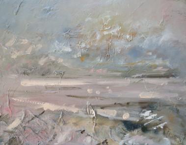 Quiet Down, 2018, Oil on canvas, 40 x 50cm