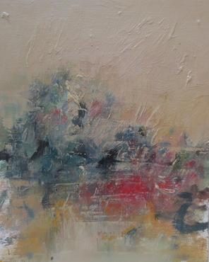Lowly Light, 2020, Oil on wooden panel, 32 x 26cm