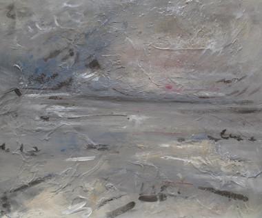 This Grey Sea, 2018, Oil on canvas, 50 x 60cm