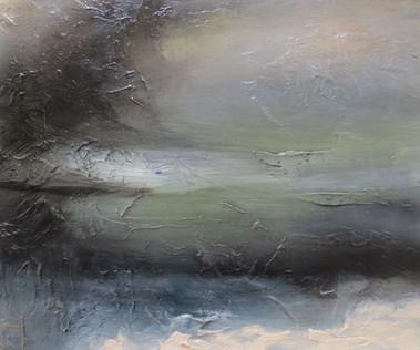Reach the Soul, 2018, Oil on canvas, 50 x 60cm