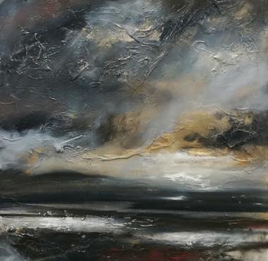 Dreams in the Dusk, 2018, Oil on canvas, 100 x 100cm