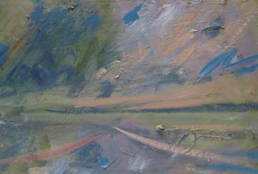 In Heaven's Fields, 2020, Oil on wooden panel, 22 x 32cm