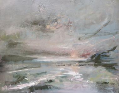 Once Radiant Sun, 2018, Oil on canvas board, 50 x 60cm