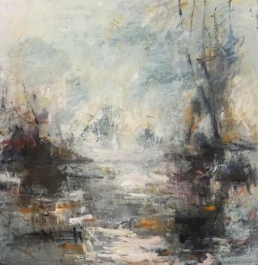 Night Vanishes, 2018, Oil on canvas, 180 x 180cm