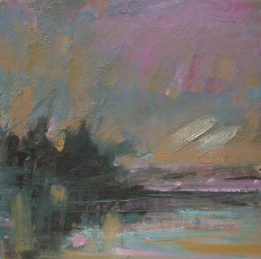 The Evening Quiet, 2020, Oil on wooden panel, 32 x 32cm