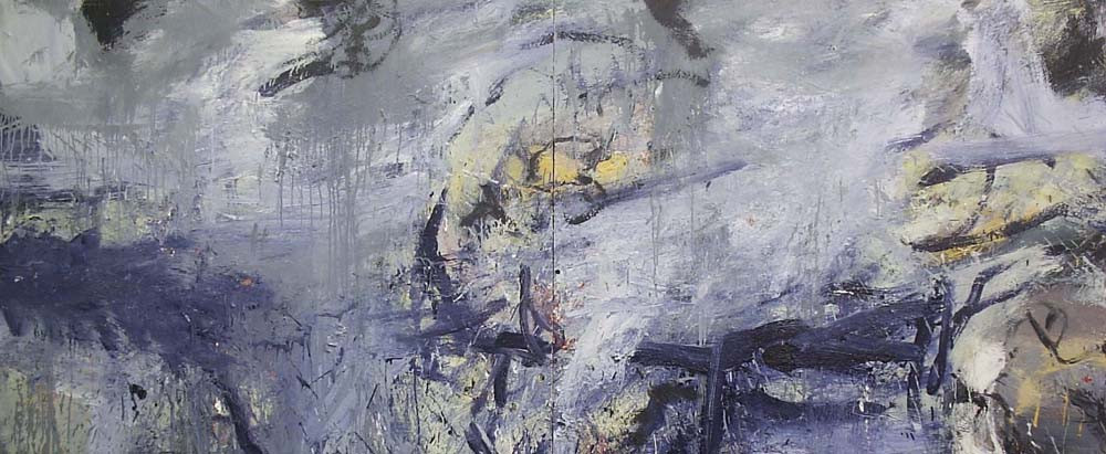 Painting, 2008, Oil on canvas, 100 x 240cm (diptych)
