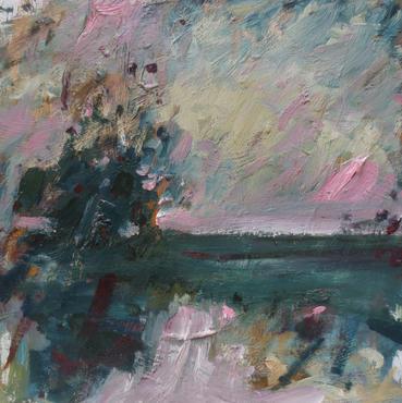 Autumn Song, 2020, Oil on wooden panel, 32 x 32cm