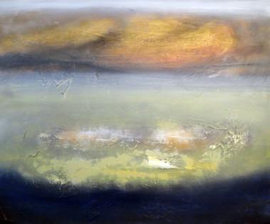 Dusk, 2018, Oil on canvas, 100 x 120cm