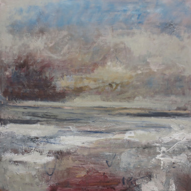 The Sky Behind, 2018, Oil on canvas, 120 x 120cm