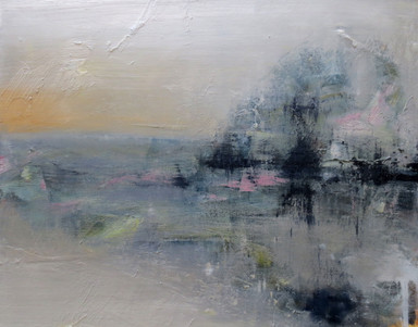 With Mist, 2019, Oil on canvas, 40 x 50cm