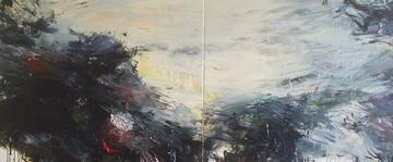 Burden of Dreams, 2008, Oil on canvas, 100 x 240cm (diptych)