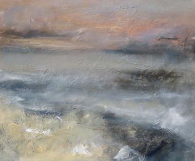 Against the Sand, 2018, Oil on canvas, 50 x 60cm