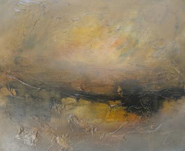 Orange Sunset, 2018, Oil on canvas, 50 x 60cm