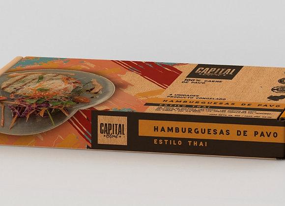 Hamburguesa de Pavo Estilo Thai (4 unidades de 150 grs. c/u)