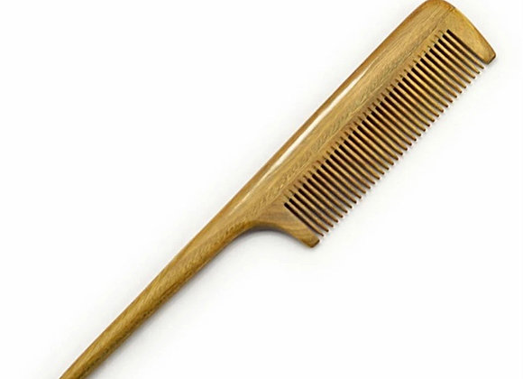 """Wooden Rat Tail"" Comb"