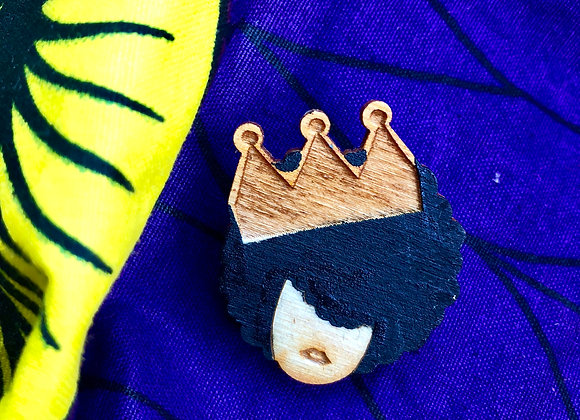 """Crowned"" Pin"