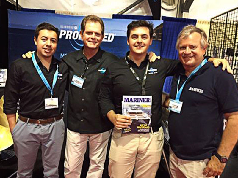Da esquerda para direita: Guilherme da Propspeed Brasil, Mark da Propseed USA, Januário Diretor da Propspeed Brasil e Marcelo Claro da Revista Mariner.