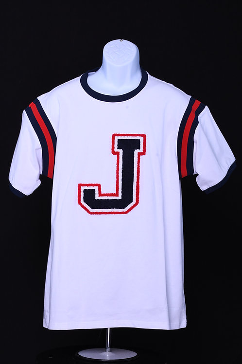 """J"" Custom Varsity Tee"