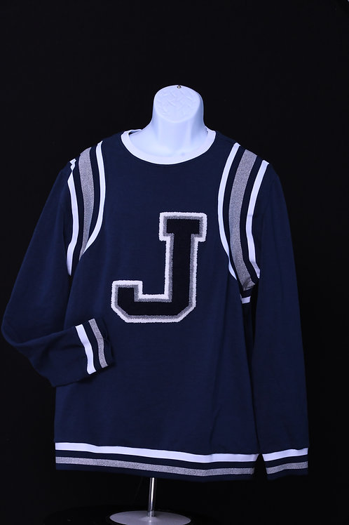 """J"" Varsity Sweater"
