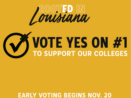Louisiana Alumni: Vote Yes On Amendment #1