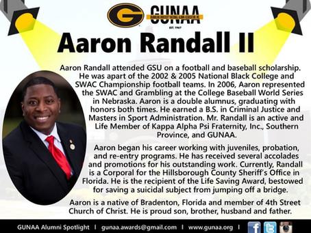 GUNAA Spotlights, Alumnus Aaron Randall II