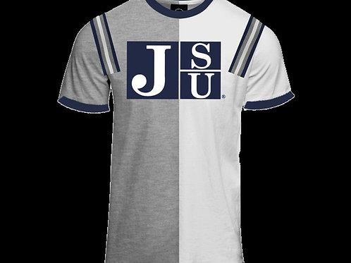 """""""J"""" Varsity tee (Half&Half)"""