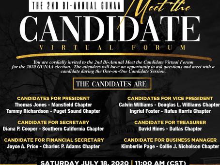2nd Bi-Annual Meet the Candidates Virtual Forum Invitation