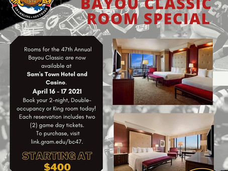 Bayou Classic Rooms & Game Day Tickets