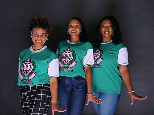 Pink & Green HBCU Varsity tee
