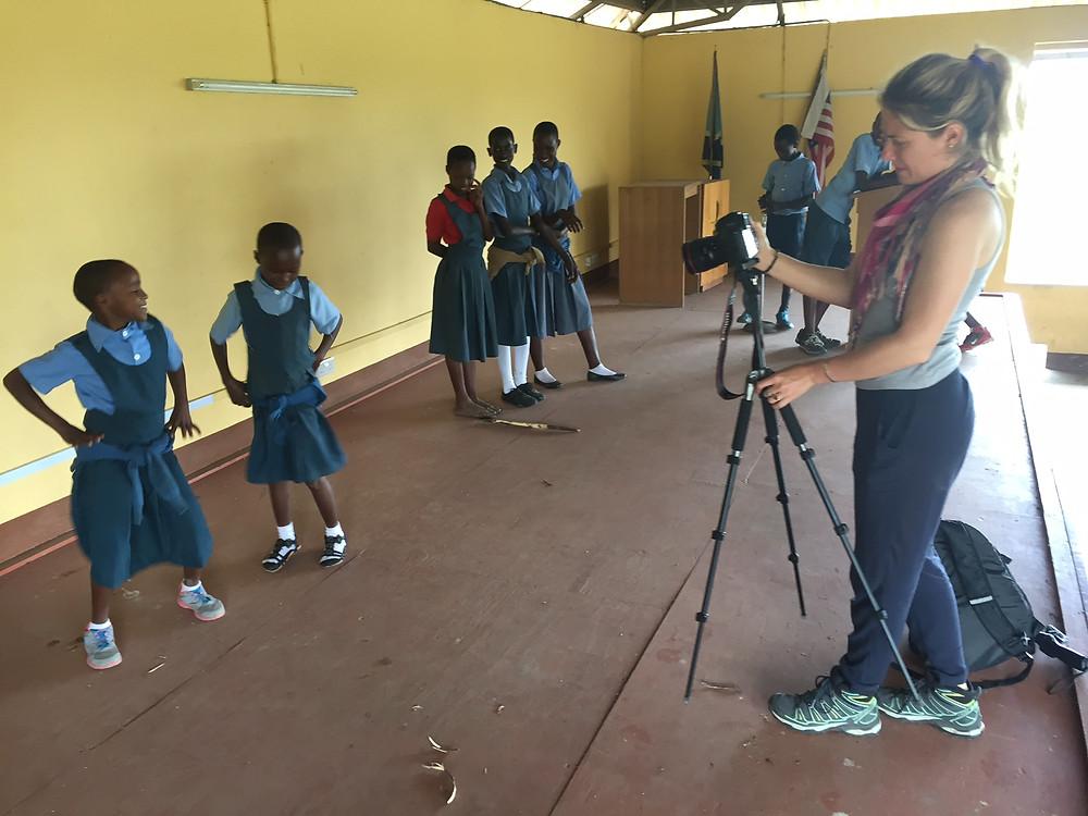 Sandra Selva with Grade 1 Students