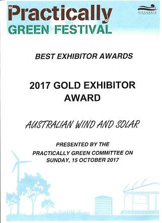 Practically Green Gold Exhibitor Award 2017