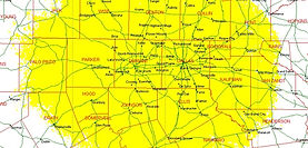 Texas Hytera network coverage map