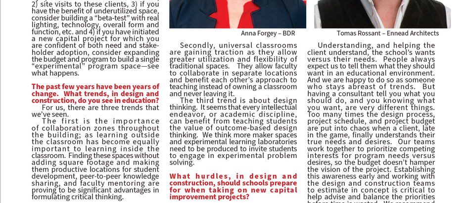Anna Forgey quoted in American School & University publication