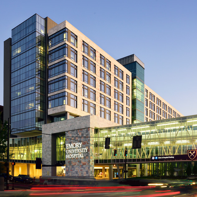 Emory University Hospital, Patient Tower & Pedestrian Bridge
