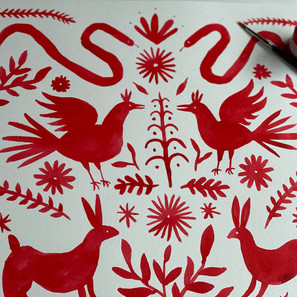 Ink Otomi Animal Pattern