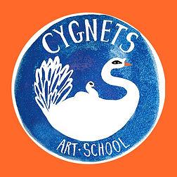 Cygnets Logo on Orange.jpg