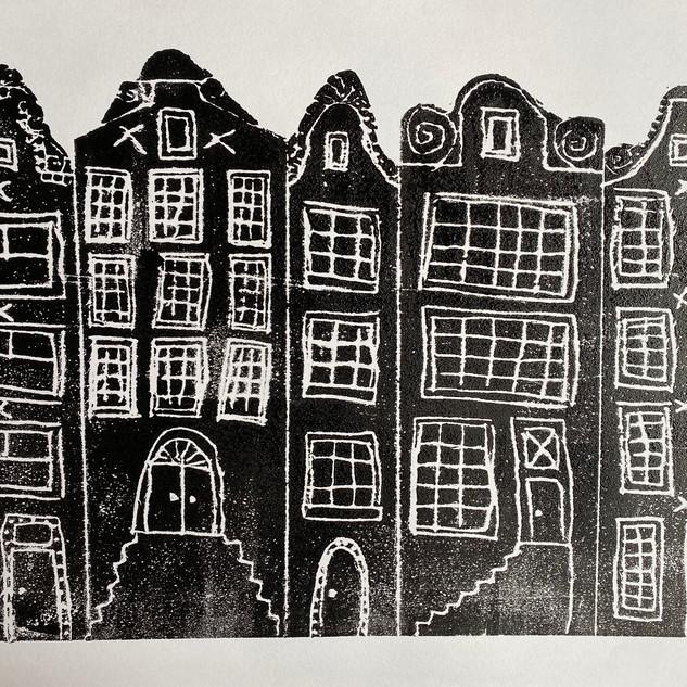 Foam Printed Amsterdam Houses