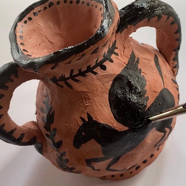 Clay Greek Pot