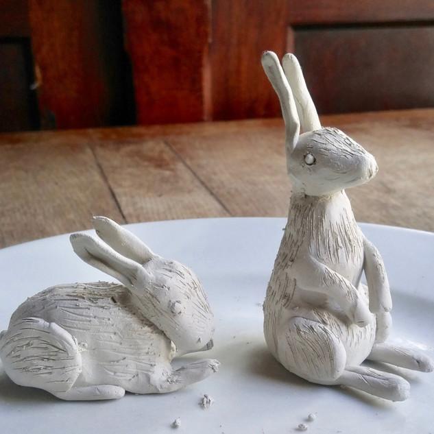 Clay Rabbits