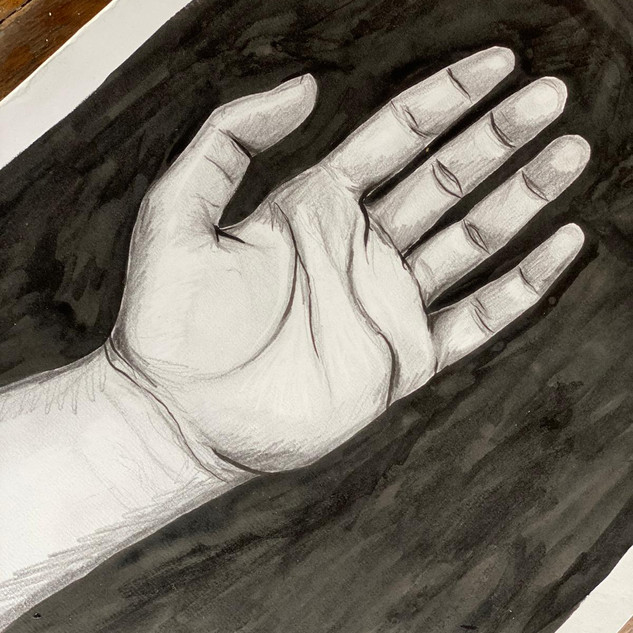Hand in Pencil and Ink