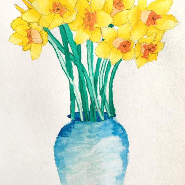 Ink Daffodils