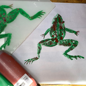 Monoprint Frog
