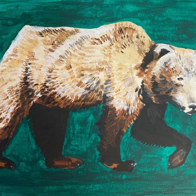 Bear in Oil Paint