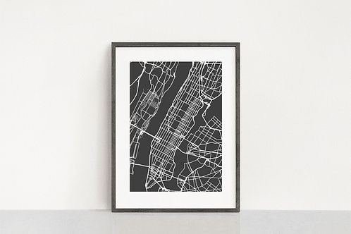 Manhattan, NYC Map