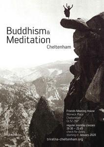 Buddhist Meditation Cheltenham, flyer.