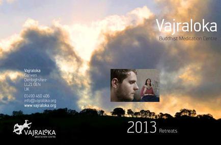 Vajraloka Mediation Centre Programme, 2013, cover.