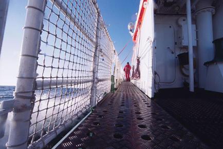 Stephan Prahl on deck, Neustadt Bay, Germany.
