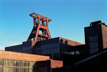 Zollverein Shaft XII, Industrial monument Zeche Zollverein, World Heritage, Essen, Germany.